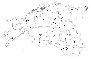 Jäälinnu vaatluskohad detsember 2013 kuni veebruar 2014.